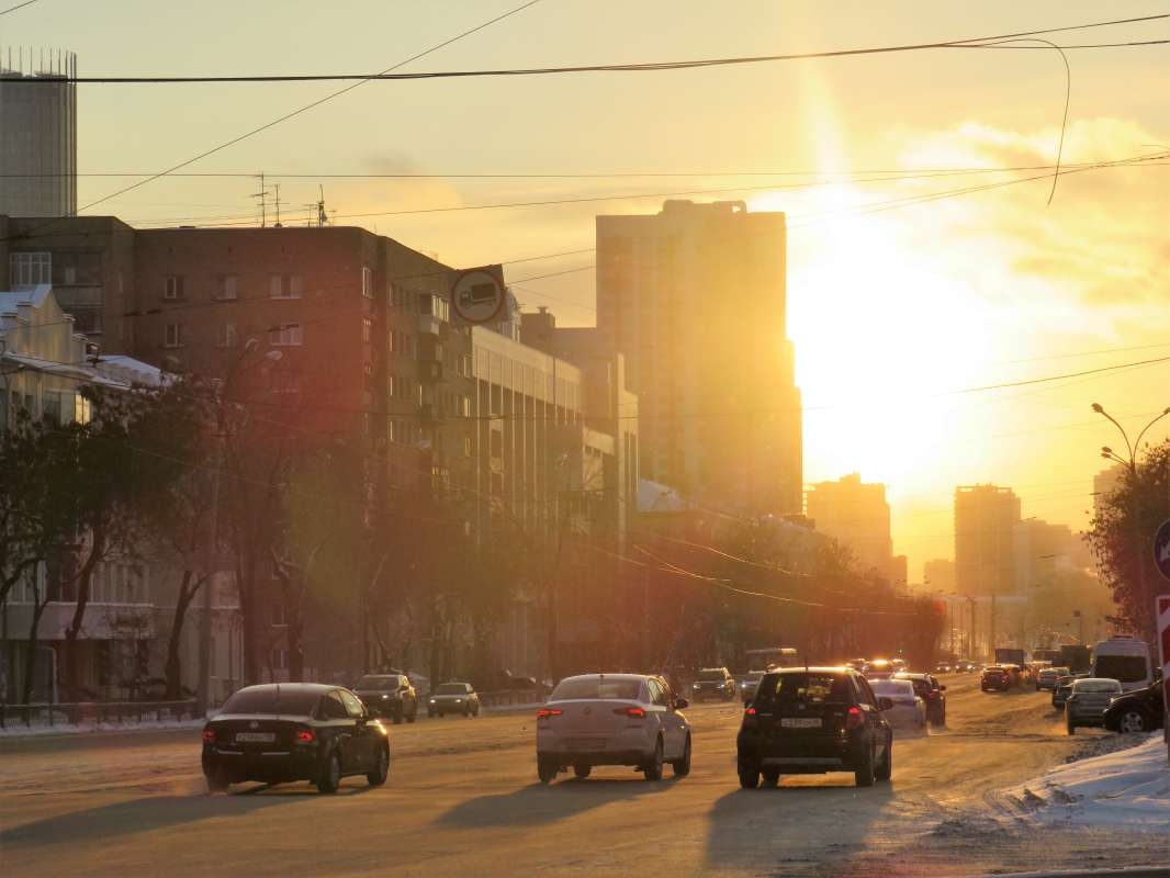 Екатеринбург. Зимний вечер.