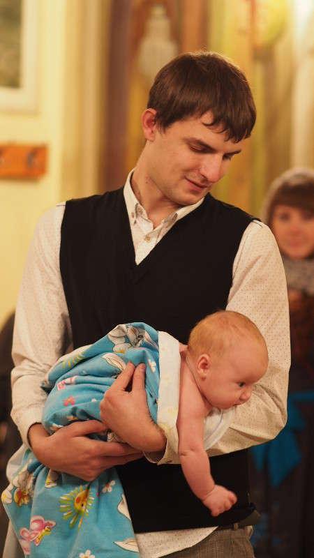 Крестный отец с крестницей.