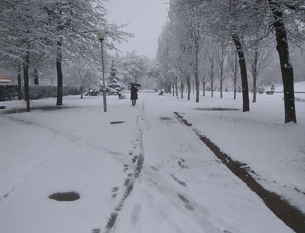 Город в снегу