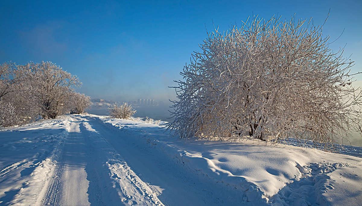 Зима на окраине Иркутска