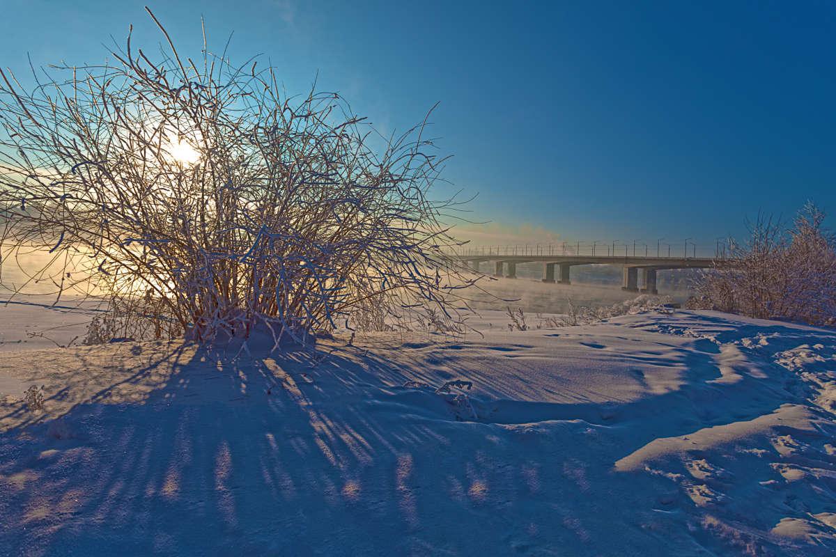 Солнце над Академическим мостом