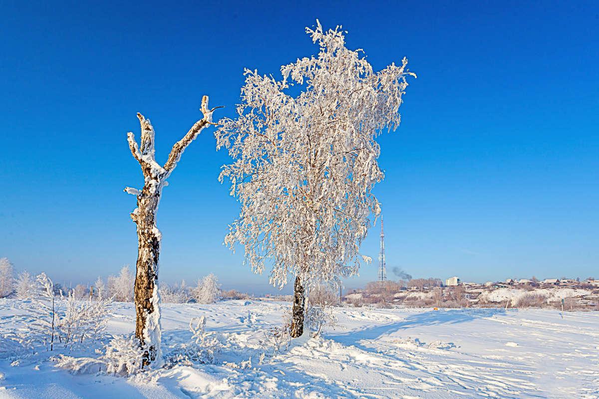 Зима на берегу Ангары
