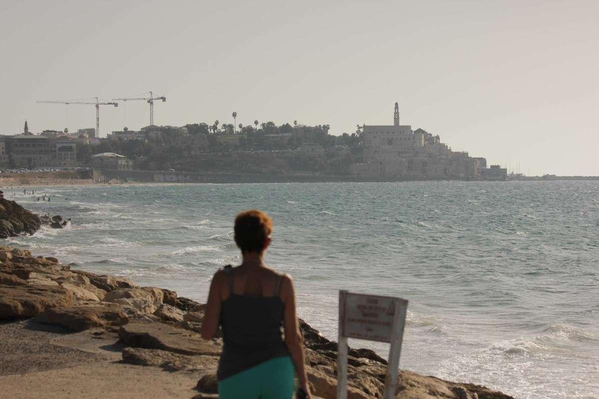 На набережной Тель-Авива,вид на Яффо