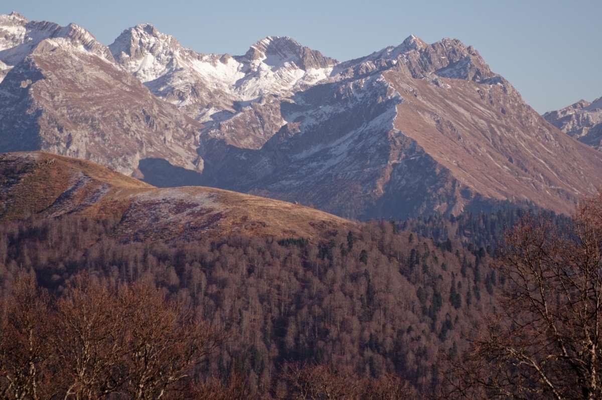 в горах Абхазии
