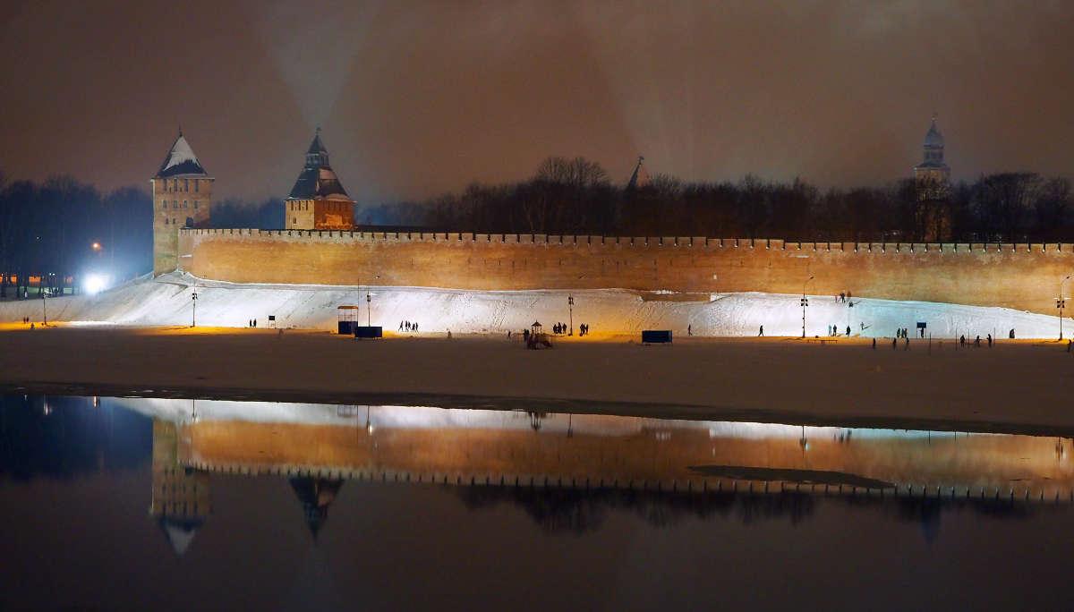 Великий Новгород. Зима. Тихий вечер