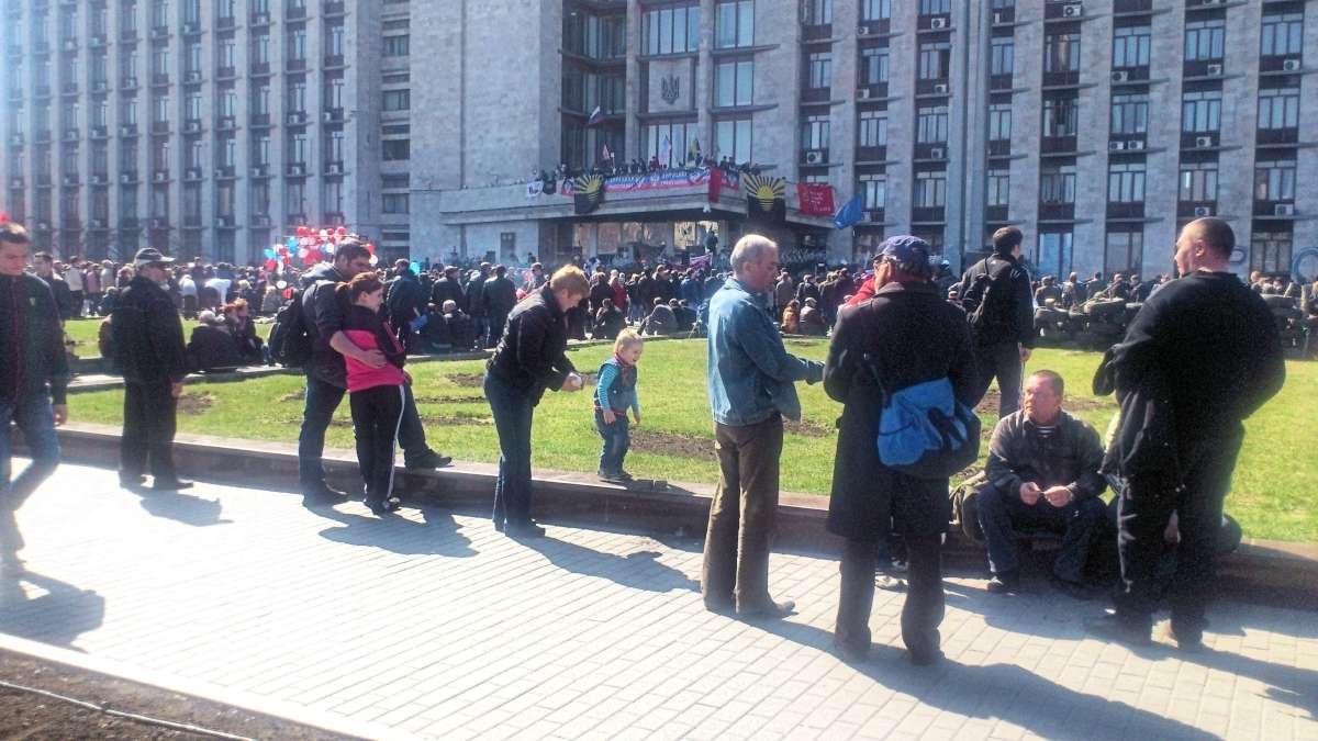 Донецк, апрель 2014