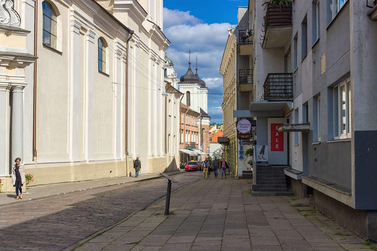Улицы Вильнюса.
