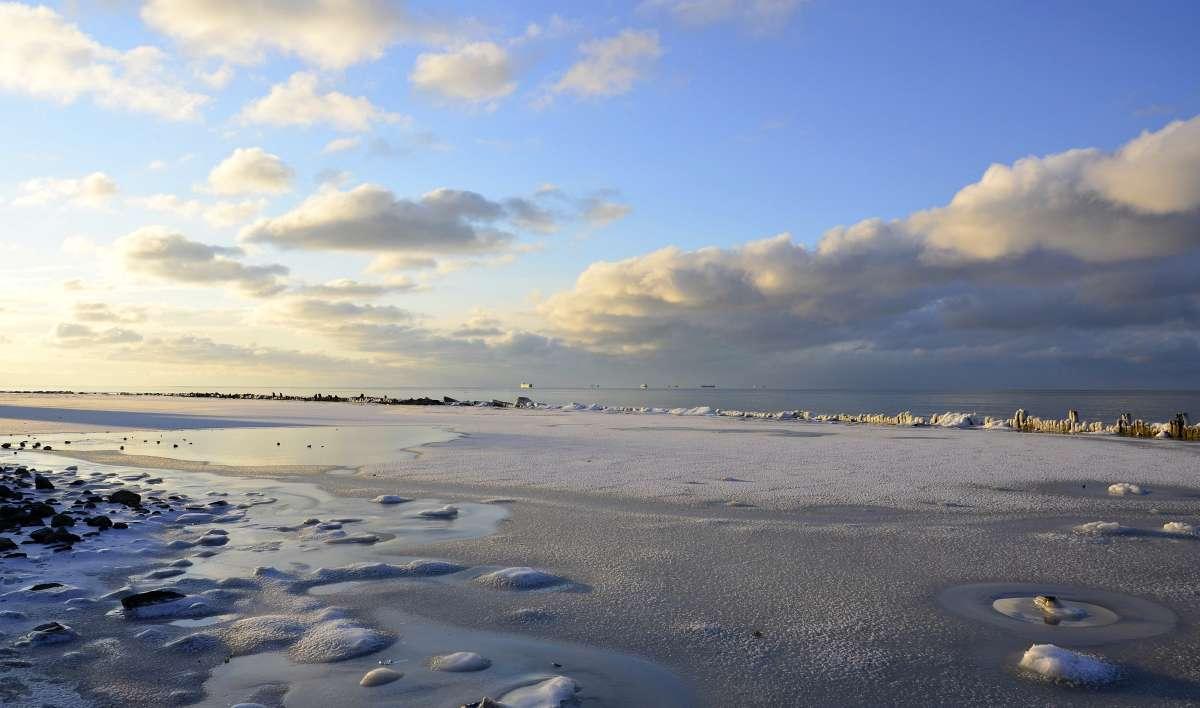 на Азовским море зима