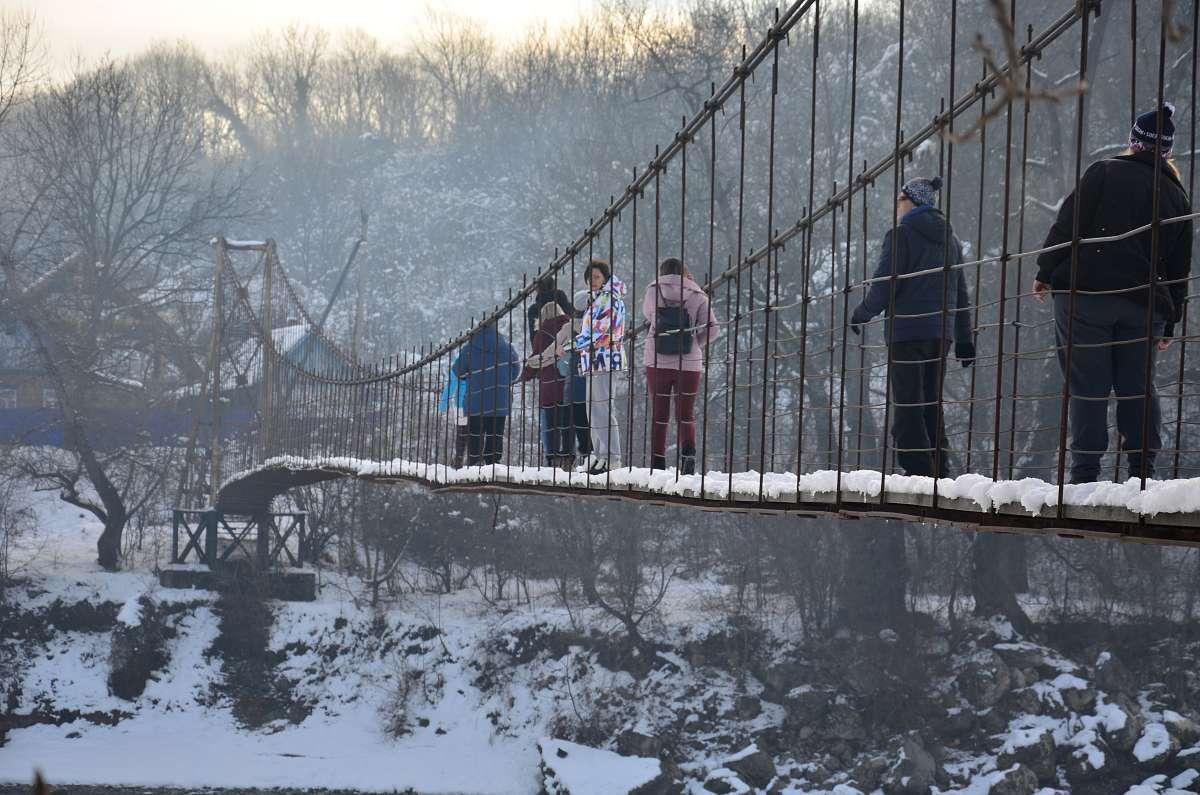 подвесной мост через р. Белая, Адыгея
