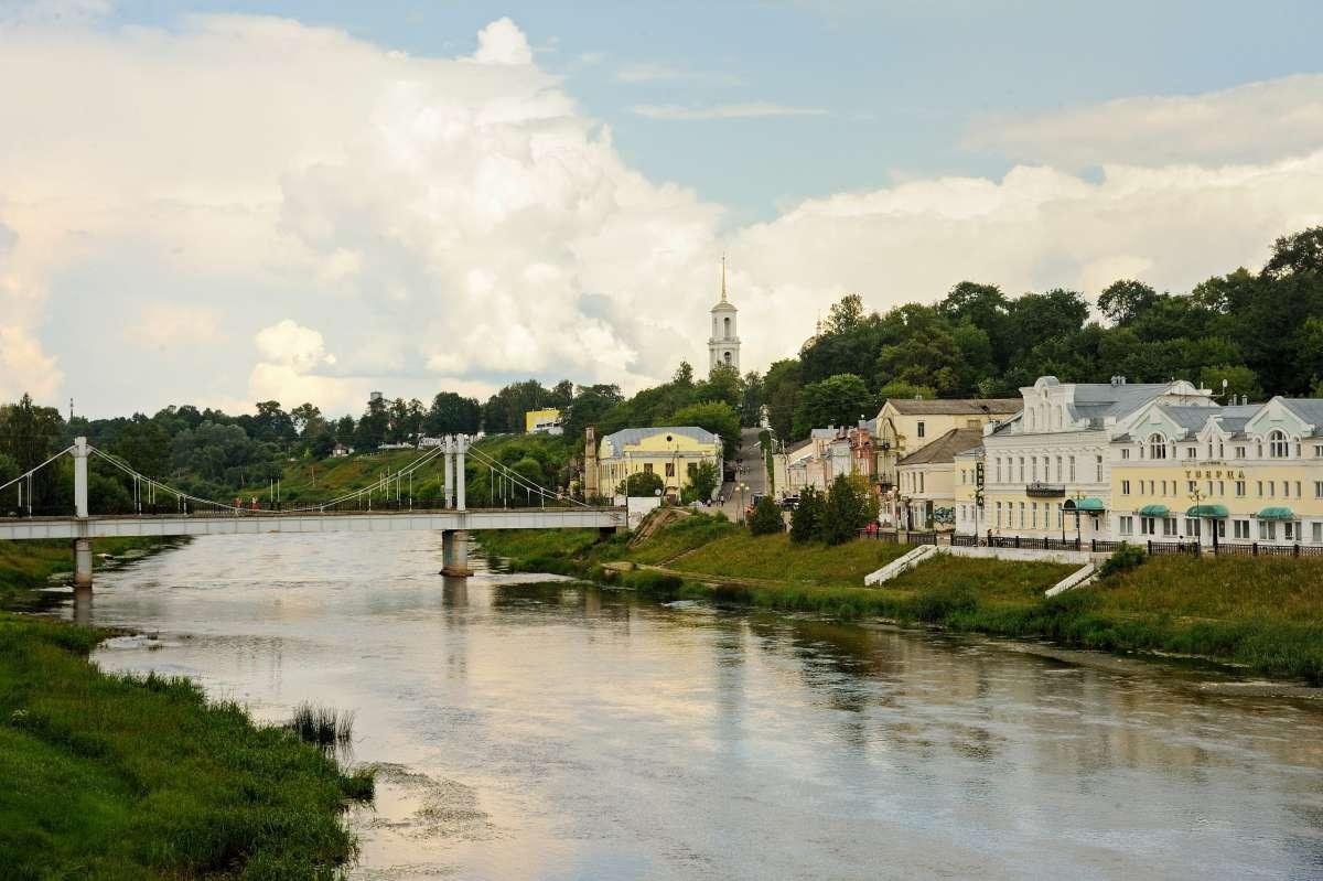 Река Тверца. Торжок.