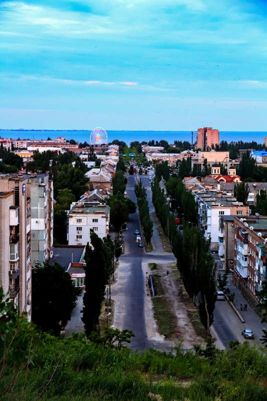 Вид на Бердянск с горы