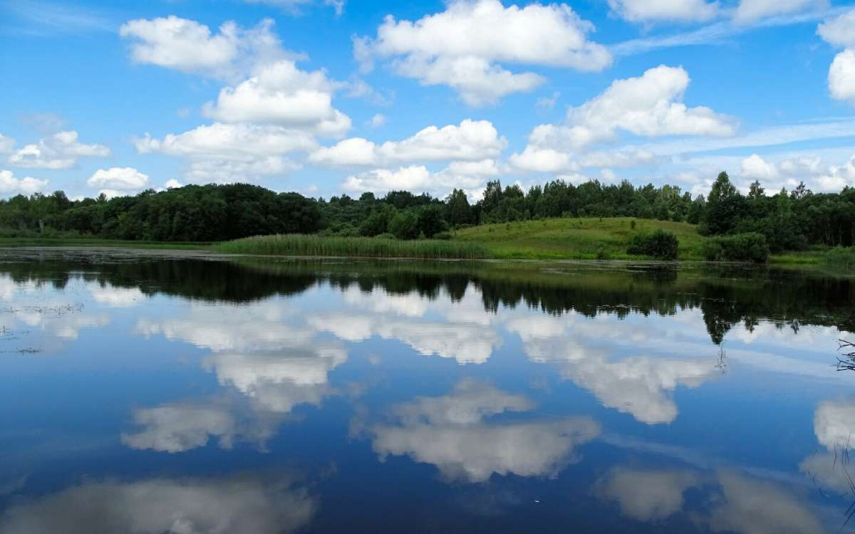Утонули облака в озере