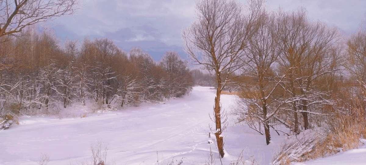 Зимняя речка..