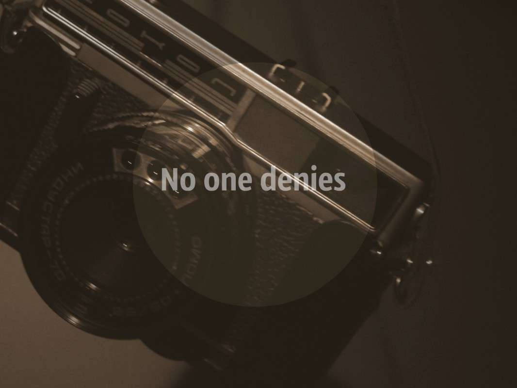 No one denies