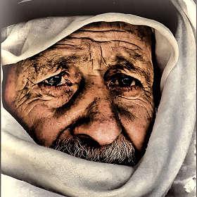 Портрет старого палестинца