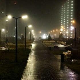 Туманная ночь...