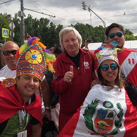 С перуанскими болельщиками