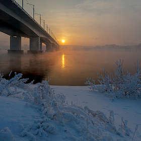 Зимний вечер на Ангаре