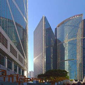 Небоскрёбы Гонконга.