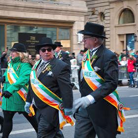 На параде в честь Дня Святого Патрика