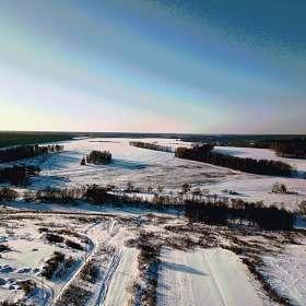 чистое снежное небо