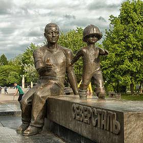 Памятник сталеварам в Череповце