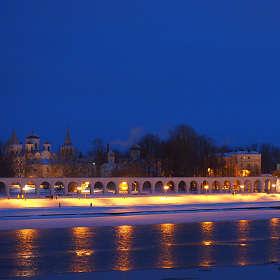 Великий Новгород. Вид с моста на Ярославово дворище
