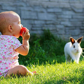 Baby and Rabbit