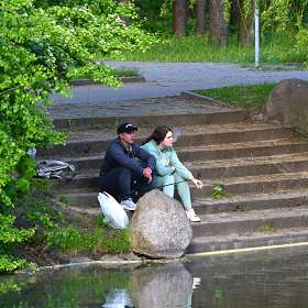 На рыбалке..
