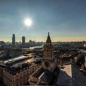 Утренний Лондон с высоты собора св. Павла.