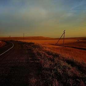 Крым. Степь. Дорога