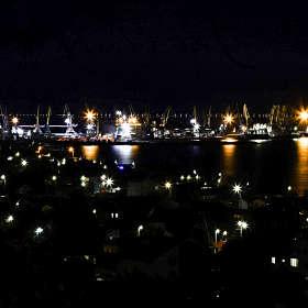Бердянский порт ночью...
