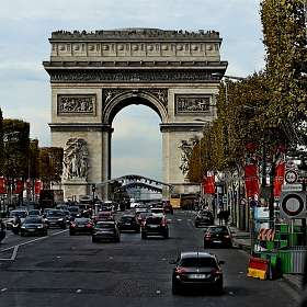 Улицы Парижа.Триуфальная арка.