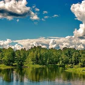 "Цикл фото ""Вуокса"".  Облака над Вуоксой."