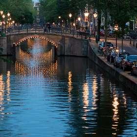Мостик - Вечерний Амстердам