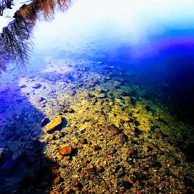 Смотрю в озера синие .....