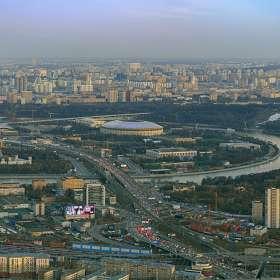 Вид Москвы со смотровой площадки